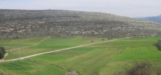منع المزارعين الفلسطينيين من حراثة أراضيهم في قرية يانون / محافظة نابلس