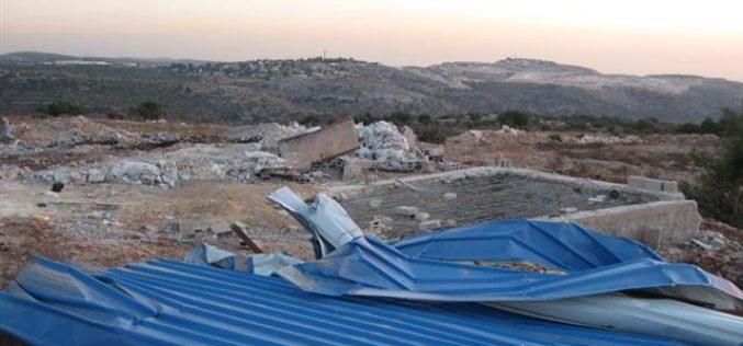 هدم 4 آبار و 3 غرف زراعية في بلدة كفر الديك
