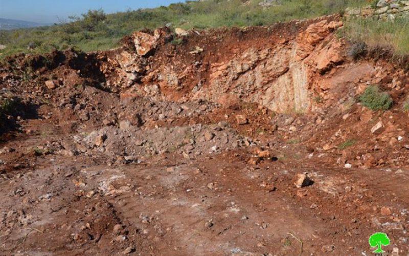 Israeli bulldozers Leveled 20 Dunums in Salfit