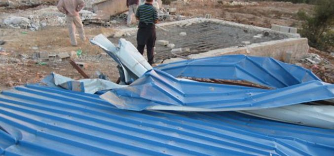 Demolishing Cisterns and Sheds in Kafr ad Dik