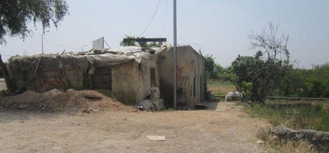 هدم  شبكة الكهرباء المغذية للبئر  الارتوازي المغذي لمساحات واسعة من الأراضي الزراعية في قرية النبي الياس