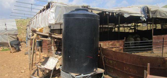 إجبار 4 عائلات بدوية في خربة الحمة على الرحيل / محافظة طوباس