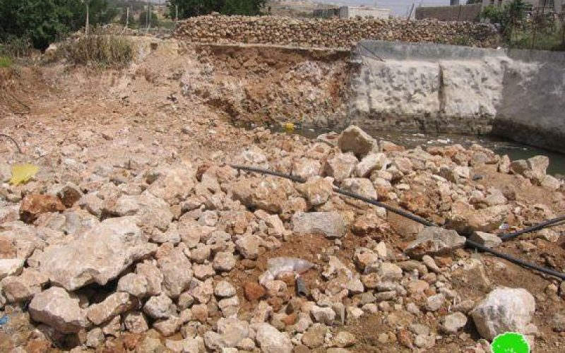Confiscating irrigation networks and ravaging crops in Al Baq'a – Hebron city.