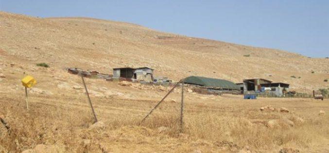 مصادرة  جرار زراعي في سهل البقيعة