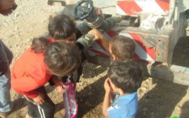 Confiscating Five Water Tankers in Wadi al Maleh