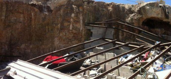 Demolishing a Commercial Shop in Hizma