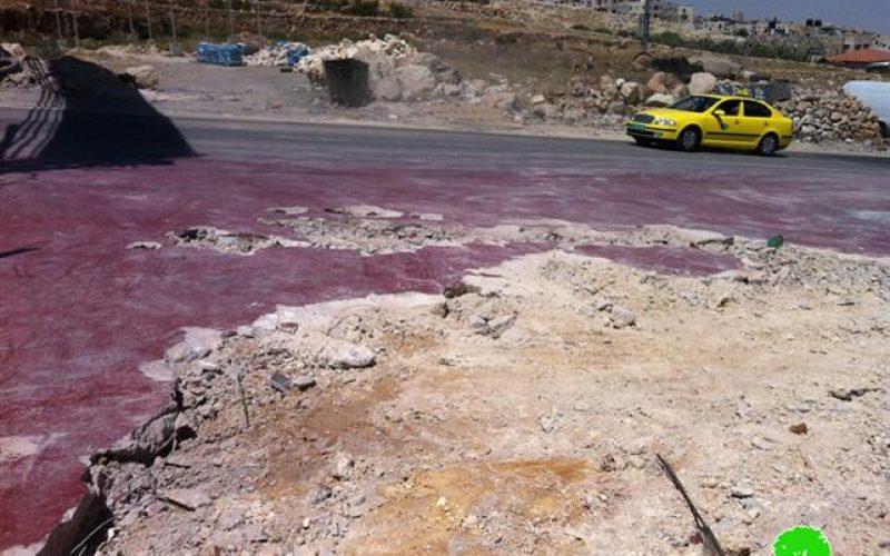 تجريف محطة وقود ومصادرة محتوياتها في بلدة حزما