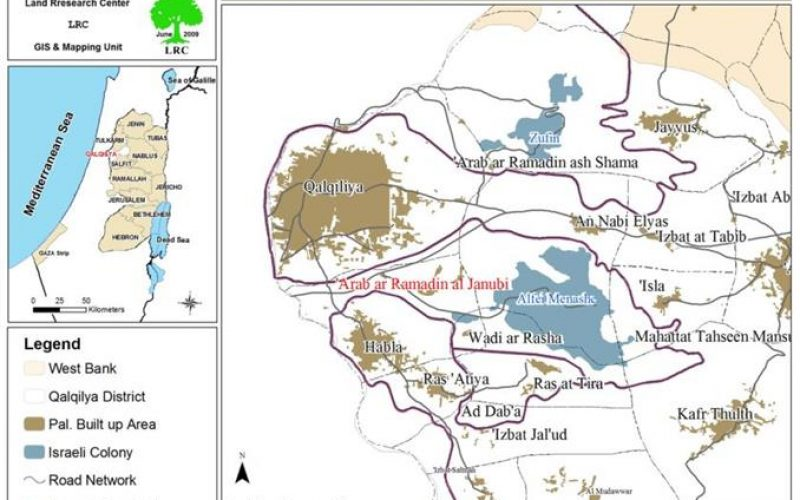 الاحتلال الإسرائيلي يهدم بركسا زراعياً في الرماضين الجنوبي