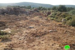 Israeli Settlers stealing soil from Palestinian fields in Wadi Qana