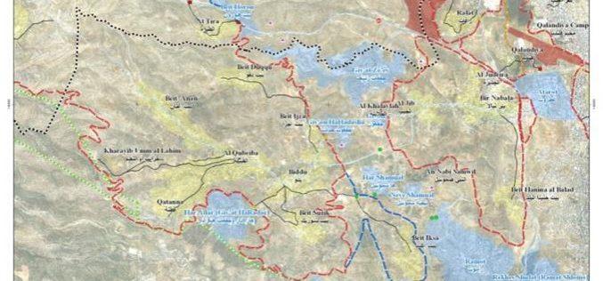 "Israel extends the confiscation of Palestinian Owned lands in northwest Jerusalem villages <br> ""The Case of Beit Iksa, Beit Surik and An Nabi Samuel villages"""