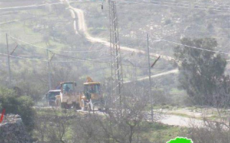 اليات الاحتلال تدمر خط شبكة الكهرباء في مدينة بيت جالا