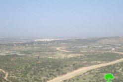 الاحتلال الإسرائيلي يشرع في إقامة مقطع جديد من الجدار العنصري في قرية جيوس