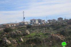 أعمال توسعة في محيط مستوطنة بيت آريية على أراضي قرية اللبن الغربي