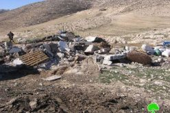 The Israeli Occupation Army Demolish Structures in Al Rahwa