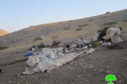 الاحتلال يهدم خربة حمامات المالح للمرة الثالثة خلال أسبوع واحد