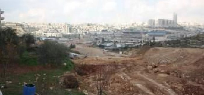 """At a cost of USD 1.1 Billion""  <br> Israel takes over 234 Dunums of Lands of Beit Safafa and Sharafat to construct the Israeli bypass road No. 50"