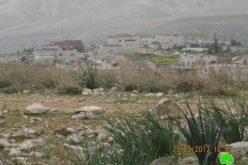 تجريف أراضي زراعية في خربة جب الذيب