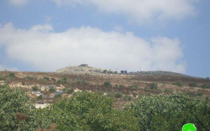 الاعتداء على المزارعين الفلسطينيين وسرقة عِددهم الزراعية في قرية بورين