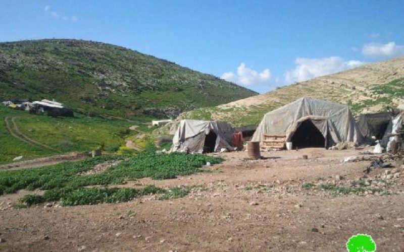 Eviction orders for 16 Bedouin families in Tubas