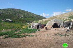 إخطار 16 عائلة بدوية بالإخلاء لمدة 24 ساعة بدعوى التدريبات العسكرية في خربة ابزيق