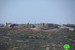 إخطارات بوقف العمل في منشآت سكنية وزراعية في موقع القانوب شرق بلدة سعير