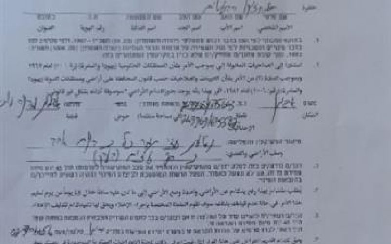 A Military Order Demanding the Removal of 110 Palm Trees