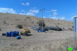 الاحتلال الإسرائيلي يخطر ثلاث عائلات بدوية من خربة عين الحلوة بوقف البناء لمنشاتهم السكنية والزراعية