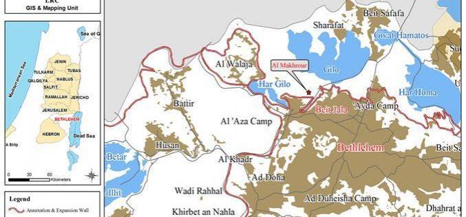 الاحتلال يهدم  غرفة زراعية في منطقة المخرور في مدينة بيت جالا