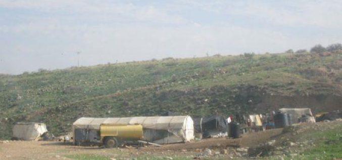 مصادرة أربعة صهاريج لنقل المياه في قرية الجفتلك / محافظة  اريحا