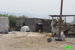 إخطار منشآت (12) عائلة بدوية في قرية الجفتلك بوقف البناء /محافظة أريحا