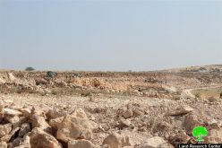 Leveling Huge Areas of Palestinian Lands in Jamroora village near Tarqumiyya