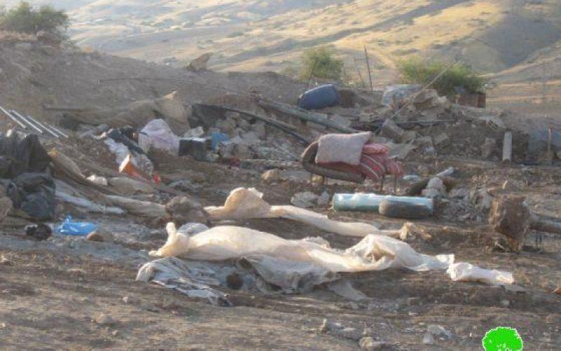 هدم 3 مساكن في قرية العوجا / محافظة اريحا