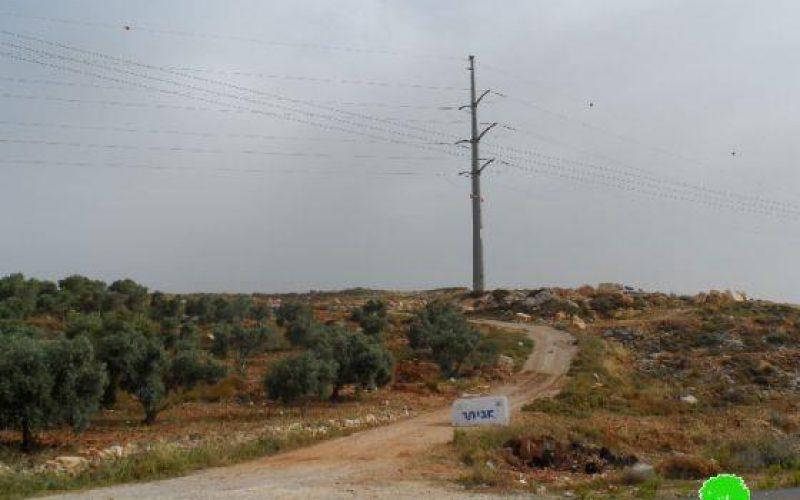 """مستعمرو """"تفوح"""" يشرعون بإقامة بؤرة استيطانية جديدة على أراض قرية يتما  / محافظة نابلس"""
