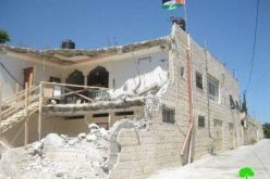 Demolition of four residences in al Mukabber