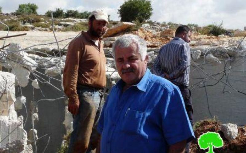 تدمير أراضي مستصلحة حديثاً في بلدة عقربا / محافظة نابلس