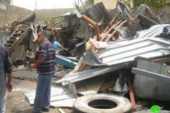 بلدية الاحتلال تهدم ورش ميكانيكية للسيارات في بلدة حزما