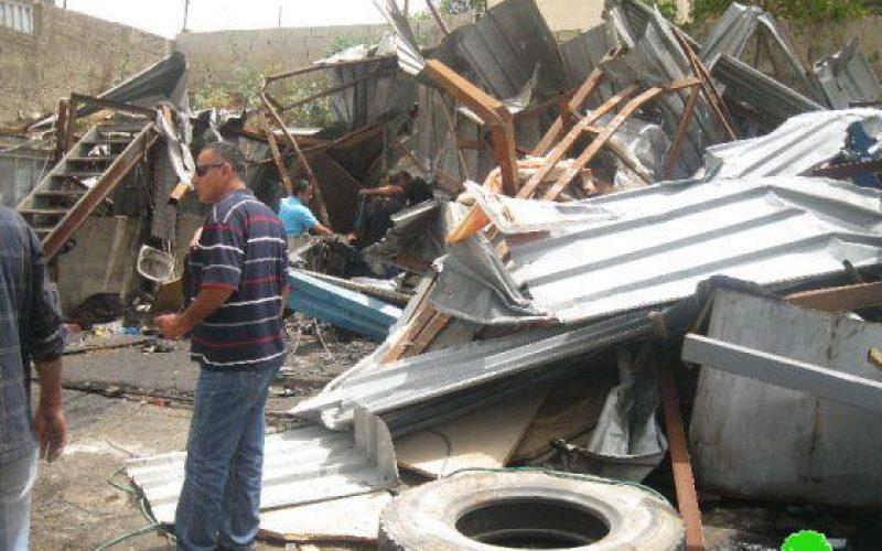 Demolishing Workshops in Hizma