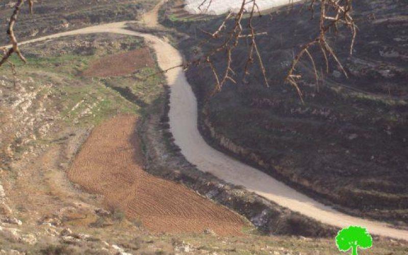 """منع أهالي قريوت من استغلال 25 دونماً من أراضيهم الزراعية  في منطقة """"الصراراة"""""""