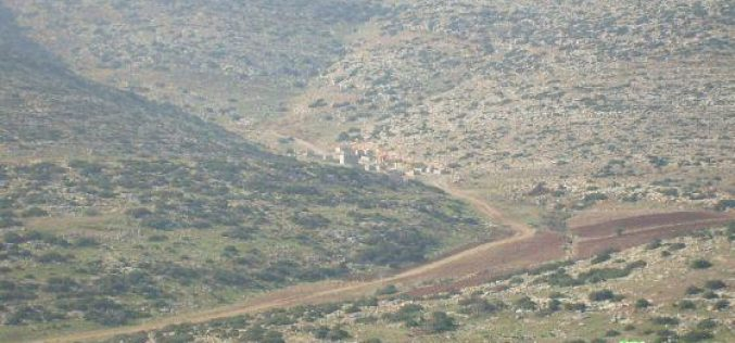The Israeli army continues to stop people from opening an agricultural road in Tubas