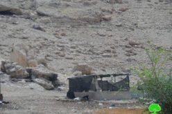 إخطار9 عائلات بدوية بوقف البناء لمنشآتهم السكنية والزراعية في خربة ابزيق