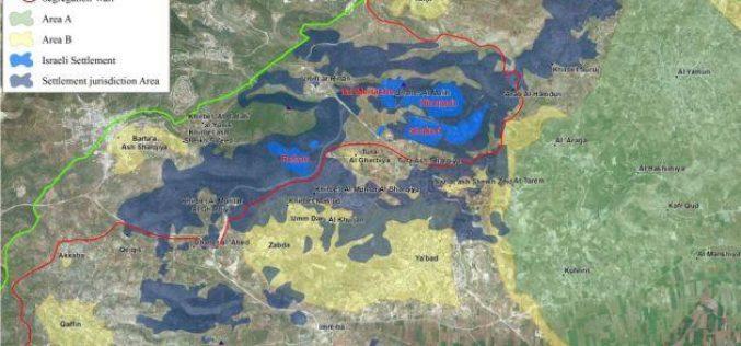 من ضمنها المناطق المصنفة 'ا' و 'ب' <br> اسرائيل تمنح مجالس المستوطنات الاسرائيلية السيطرة على المزيد من الاراضي الفلسطينية في الضفة الغربية المحتلة
