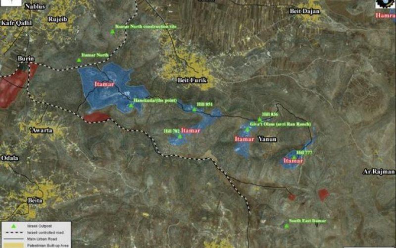 """""""المخطط الثاني في اقل من اسبوعين""""  <br>  اسرائيل تقرر توسيع مستوطنة ايتمار الاسرائيلية شمال الضفة الغربية"""