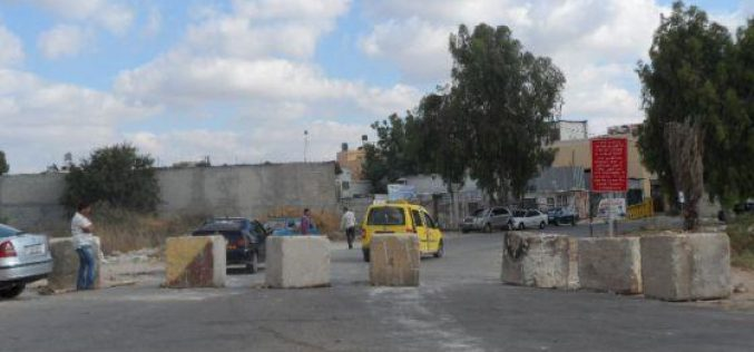 The Israeli occupation army closes the entrance of 'Azzun ash Shimali again