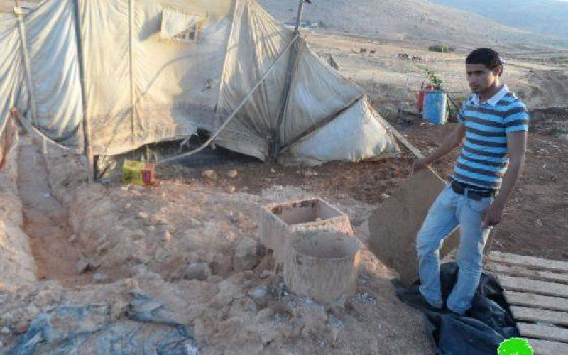 الاحتلال الإسرائيلي يهدم بئراً ارتوازياً قيد الإنشاء في منطقة سهل البقيعة /محافظة طوباس