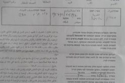 Stop-Work Orders for Two Houses and Three Water Cisterns  in Al-Kawm