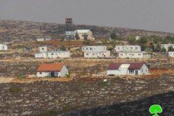 أعمال توسعة لعدد من البؤر الاستعمارية في الريف الجنوبي من نابلس /محافظة نابلس