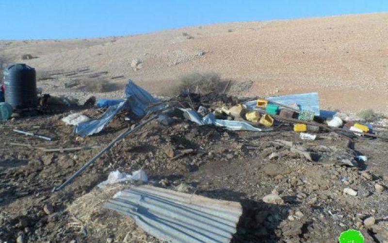 Demolishing 3 Agricultural and Residential Structures in Al Jiftlik village
