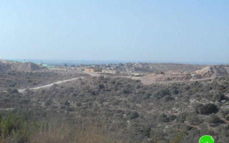 الشروع في بناء مستعمرة جديدة على حساب أراضي بلدتي دير بلوط وكفر الديك