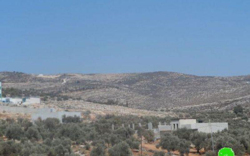 إحراق 90 دونماً من أراضي قرية دير الحطب الرعوية / محافظة نابلس