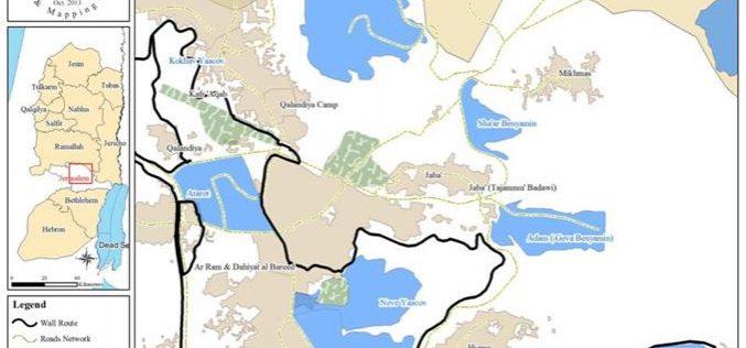 """أقامة مصانع جديدة ومجمعات تجارية داخل مستعمرة """"بنيامين"""" على أراضي قرية جبع"""